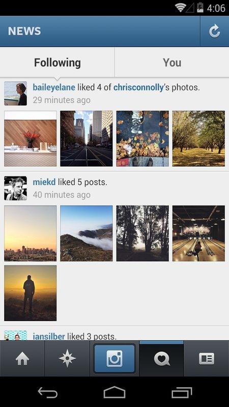 Скриншот Instagram для Android
