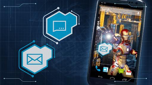 Скриншот Iron Man 3 LWP для Android