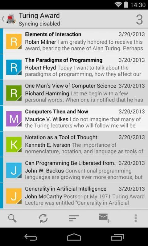 Скриншот K-9 Mail для Android