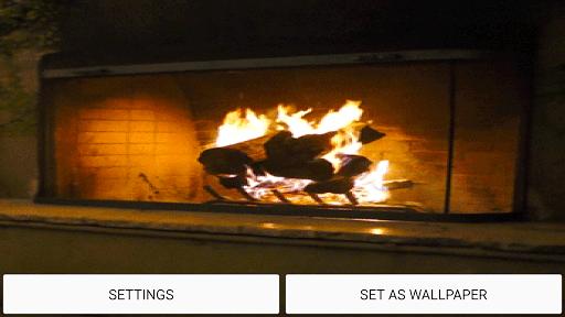 Скриншот Камин Живые обои / Fireplace Live Wallpaper для Android