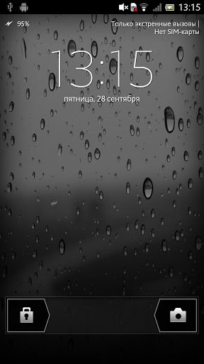 Скриншот Капли дождя Живые обои / Rain drops LWP для Android