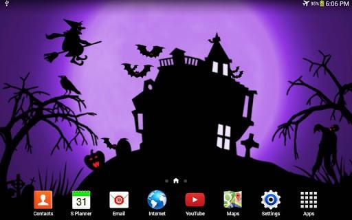 Скриншот Хэллоуин ночь живые обои / Halloween Night LWP для Android