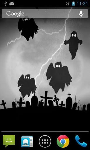 Скриншот Хэллоуин призрак живые обои для Android