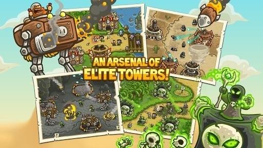 Скриншот Kingdom Rush Frontiers для Android
