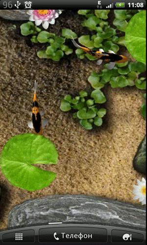 Скриншот Koi Live Wallpaper для Android