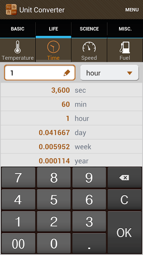 Скриншот Конвертер Единиц для Android
