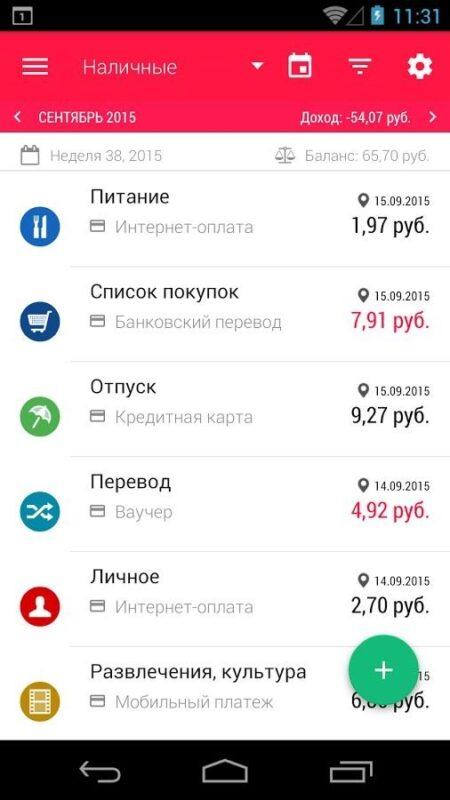 Скриншот Кошелёк (Wallet BugetBakers) для Android
