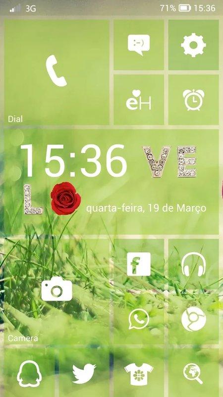 Скриншот Launcher 8 для Android
