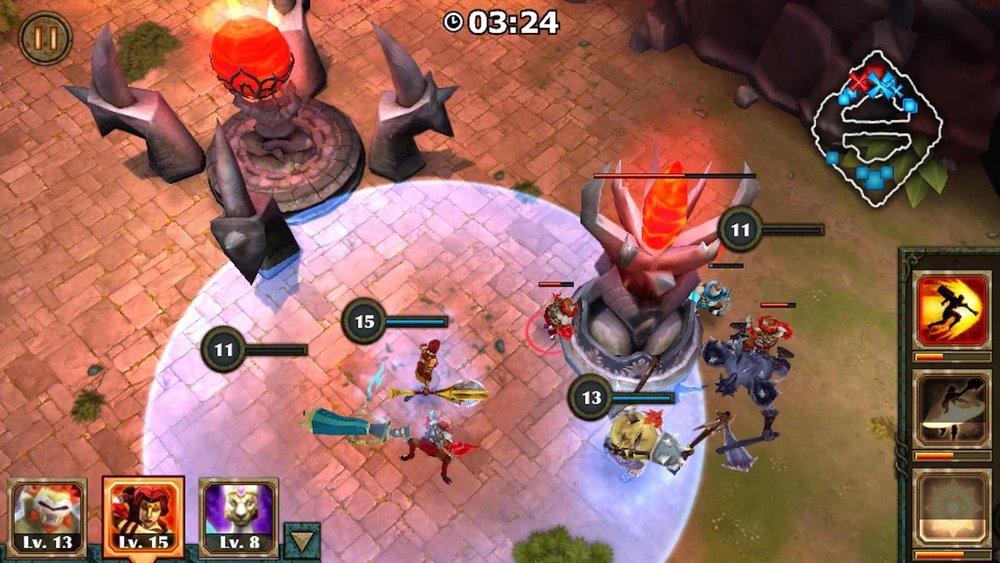 Скриншот Legendary Heroes MOBA для Android