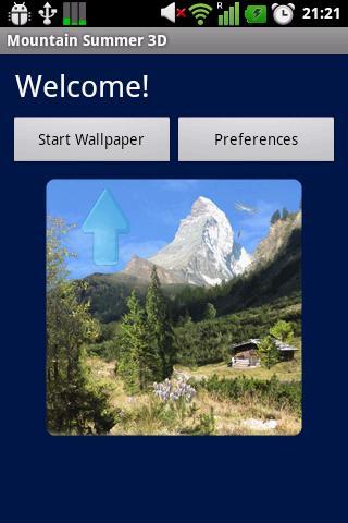 Скриншот Летние горы обои / Mountain Summer LWP для Android