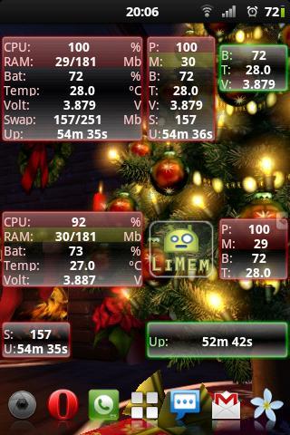 Скриншот LiMem –  виджет для Android