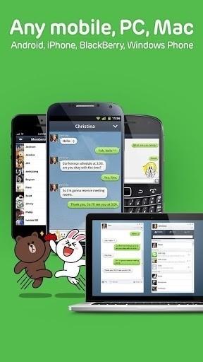 Скриншот Line — общаемся бесплатно! для Android
