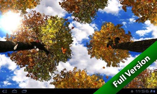 Скриншот Листопад — бесплатная версия / Falling Leaves Free Wallpaper для Android