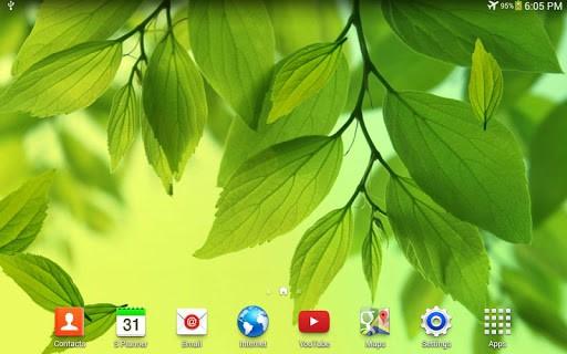 Скриншот Лист живые обои для Android