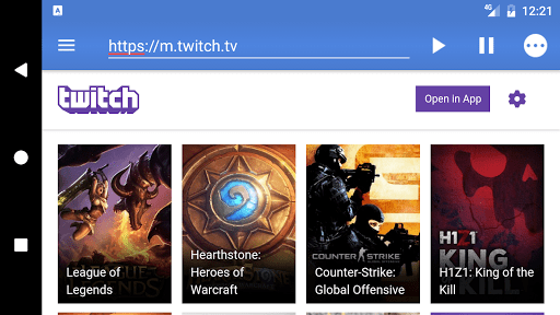 Скриншот Live Stream Player для Android