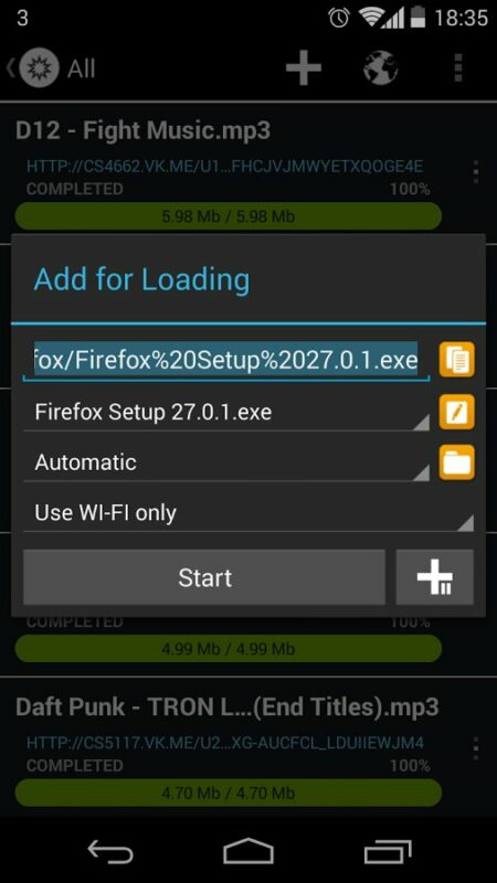 Скриншот Loader Droid для Android