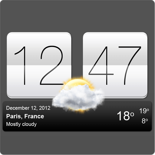Скриншот Аним Цифр Часы с Погодой / Live Wallpaper Flip Clock для Android