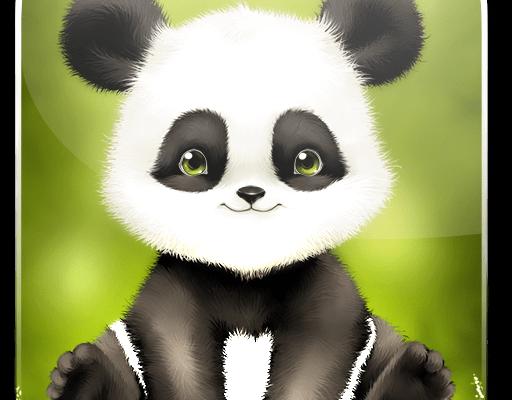 Картинка панда сидит на траве » панды » животные » картинки 24.