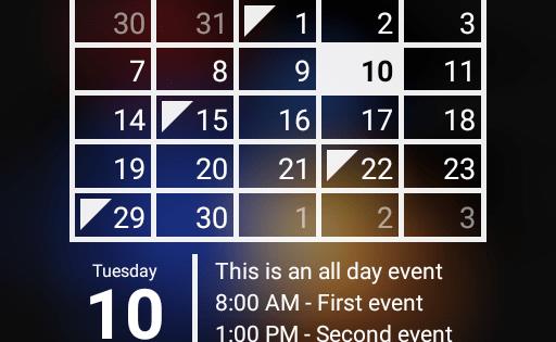 Виджет Календарь Premium для Андроид скачать бесплатно