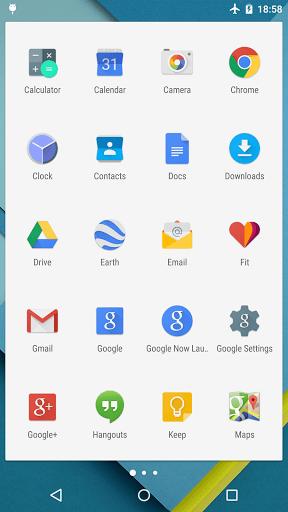 Скриншот Lollipop Launcher для Android