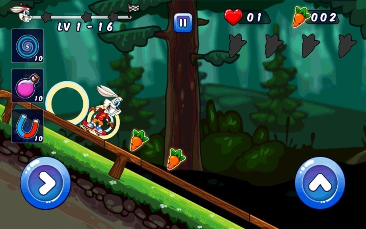 Скриншот Looney Bunny Skater для Android