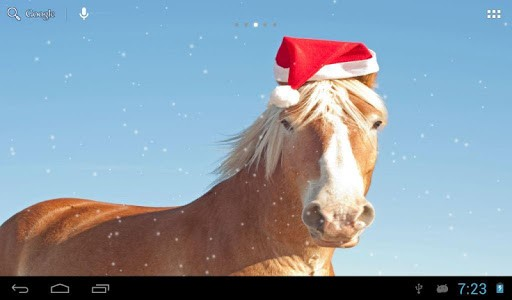 Скриншот Лошади зимой для Android
