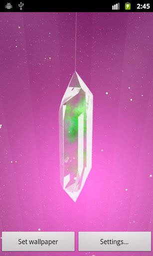 Скриншот Lucky Crystal Live Wallpaper для Android