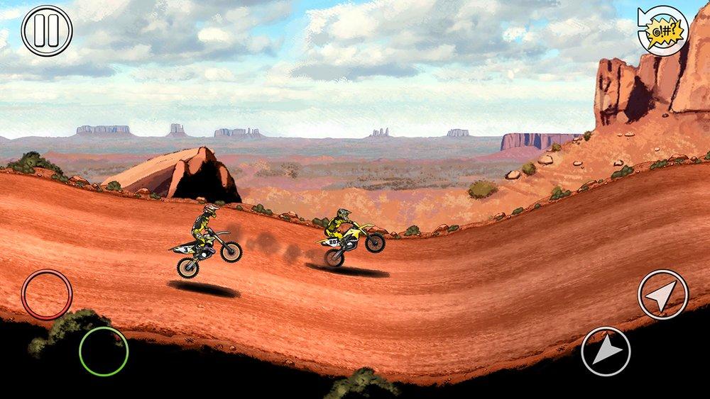 Скриншот Mad Skills Motocross 2 для Android