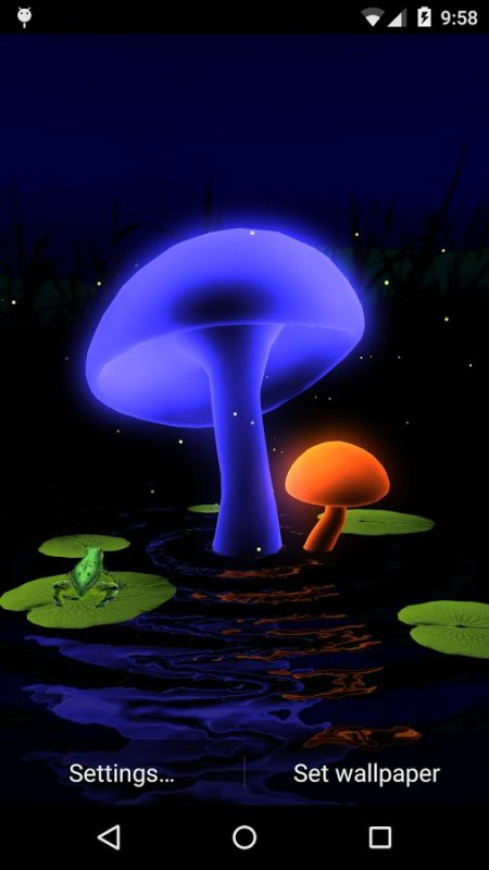 Скриншот Magic Mushrooms 3D для Android