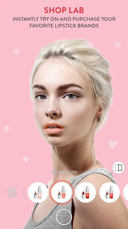 Скриншот MakeupPlus — Makeup Camera для Android