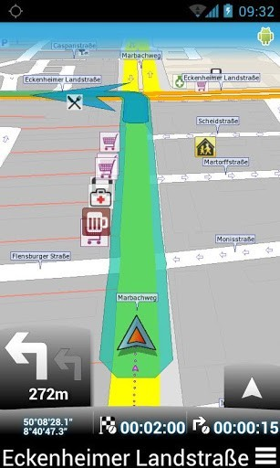 Скриншот MapFactor: GPS Navigation для Android