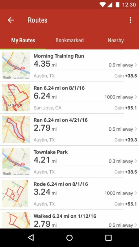 Скриншот Map My Ride GPS Cycling для Android