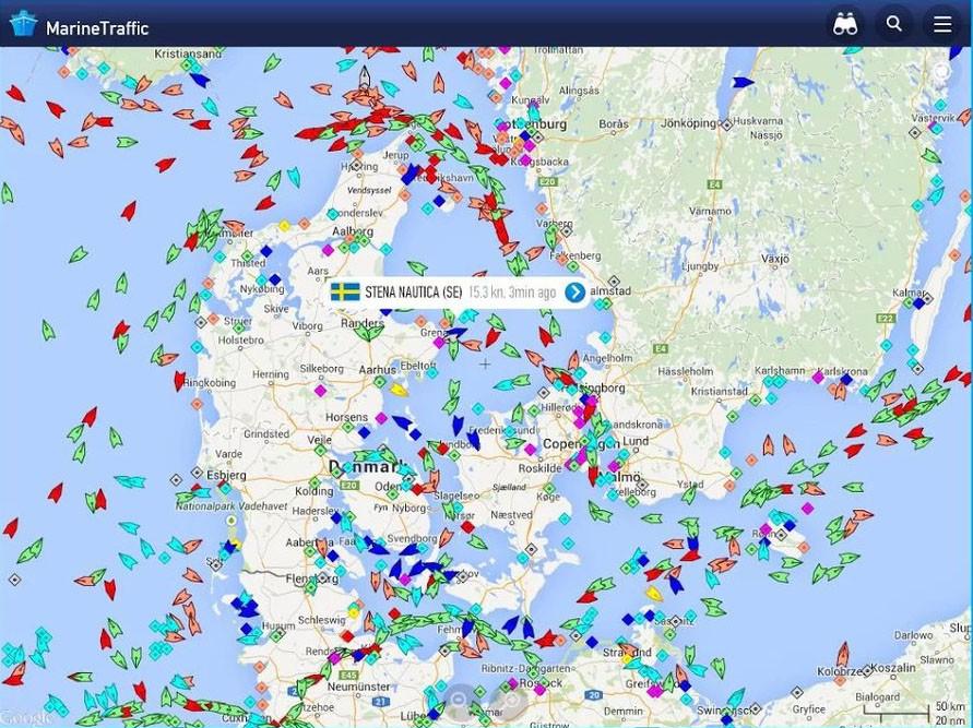 Скриншот MarineTraffic для Android