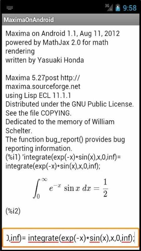 Скриншот Maxima для Android