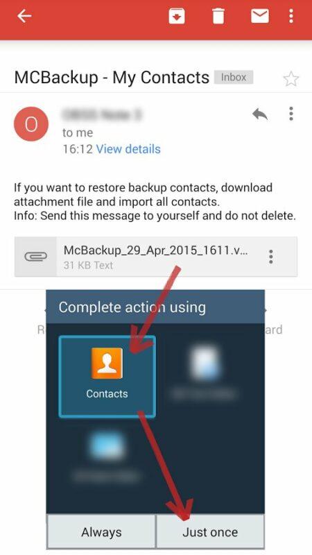 Скриншот McBackup для Android
