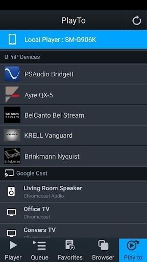 Скриншот mconnect Player для Android
