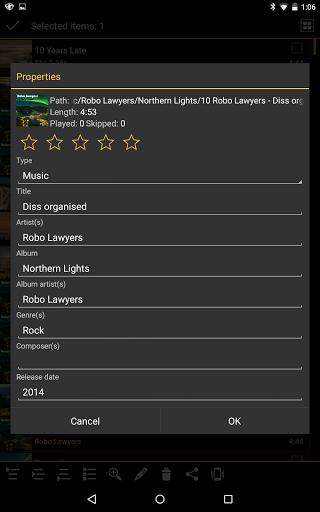 Скриншот MediaMonkey для Android