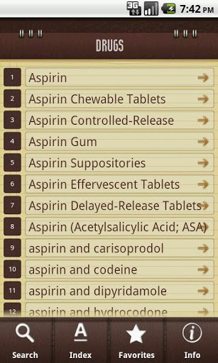 Скриншот Медицинский справочник для Android