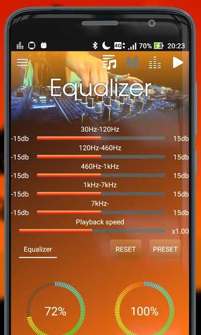 Скриншот Megamix Player для Android