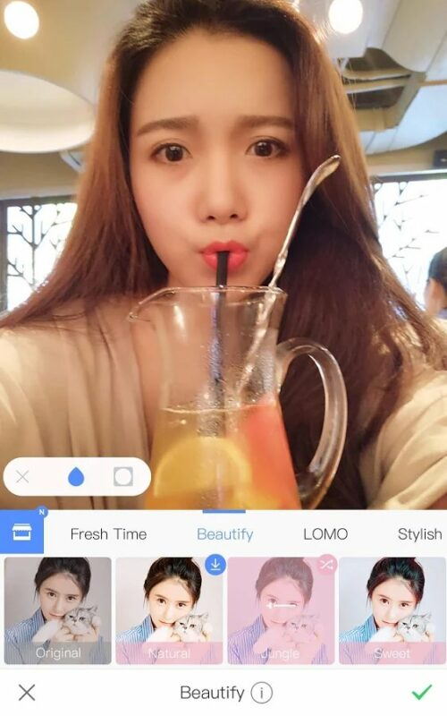 Скриншот Meitu для Android