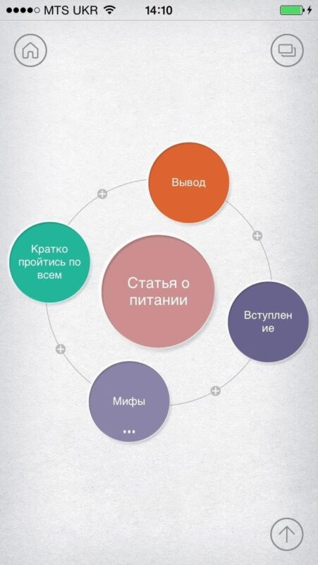 Скриншот Mindly (mind mapping) для Android