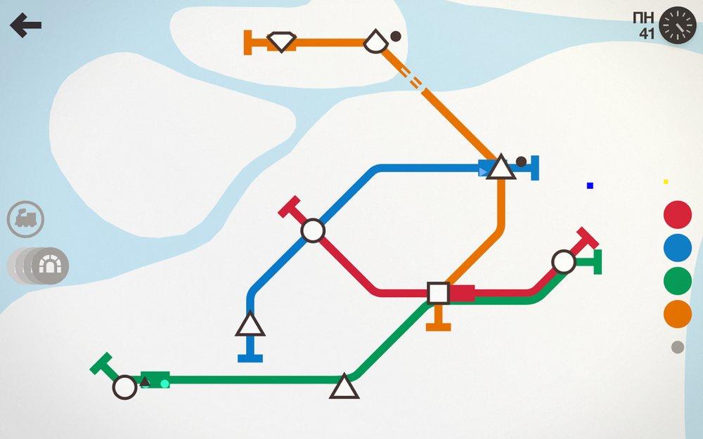 Скриншот Mini Metro для Android