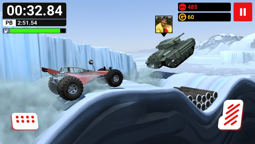 Скриншот MMX Hill Climb для Android