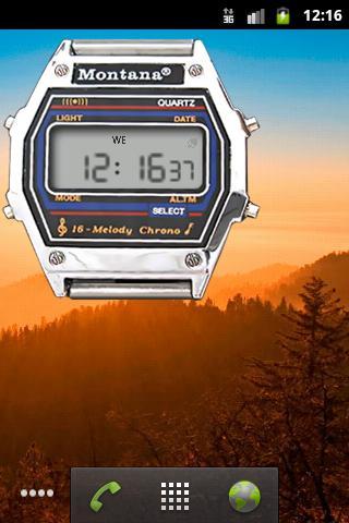 Скриншот Монтана часы для Android