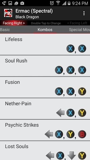 Скриншот Moves for Mortal Kombat X для Android