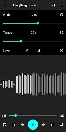 Скриншот Music Speed Changer для Android