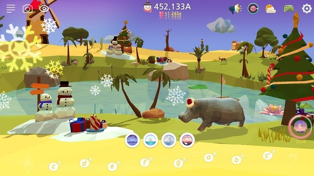 Скриншот My Oasis Tap Sky Island для Android