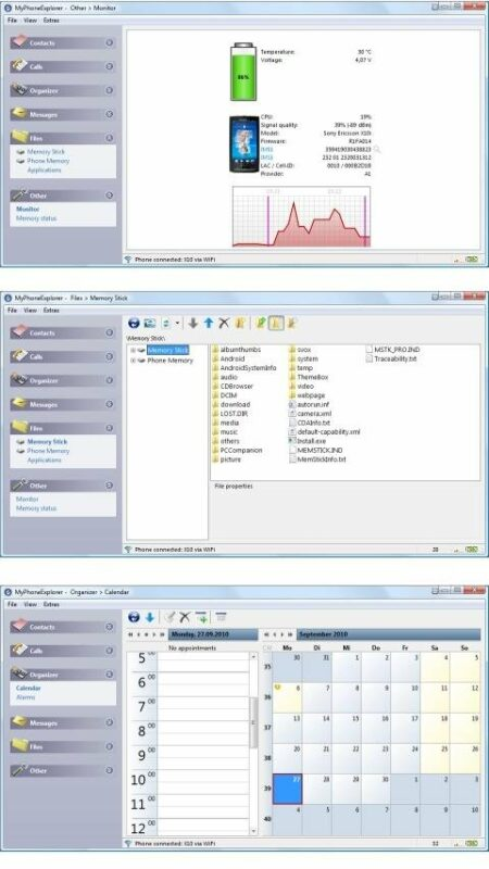 Скриншот MyРhoneExplorer Client для Android