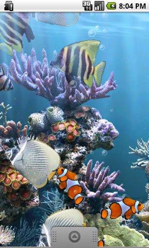 Скриншот Настоящий аквариум LWP / The Real Aquarium для Android