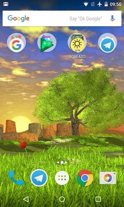 Скриншот Nature Tree Milky Way для Android